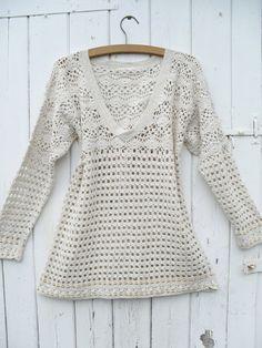 Vintage CROCHET BOHO Top #vintage #crochet