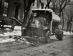 """Snow to Go Washington, D., """"Tank truck with plow clearing snow."""" Snow to Go photo Rat Rod Trucks, Rat Rods, Mack Trucks, New Trucks, Cool Trucks, Pickup Trucks, Dually Trucks, Truck Drivers, Antique Trucks"""