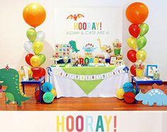 Birthday Dinosaurs Birthday Printable DIY Party Kit Dinosaur