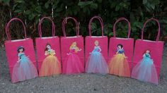 Little Mermaid Princess… theme party favor bags! this listing includes 6 favor bags. if you need more bags or specific colors please send us a message. Princess Birthday Party Decorations, Disney Princess Birthday Party, 6th Birthday Parties, Birthday Party Favors, Girl Birthday, Birthday Crowns, Cinderella Party, Elsa Birthday, Tangled Party