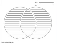 Venn Diagrams With Lines For Writing  School    Venn