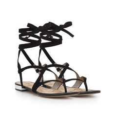 Our Davina Lace-Up Sandal is the perfect sandal for the perfect summer weather. It's made of soft suede with an eye catching lace-up ankle wrap. Davina goes with all things sunny and sweet — a maxi dress, cover-up, bikini, and cocktail!Davina Lace-Up SandalSpecial Details:Metallic Accent HeelClosure: Lace UpToe: Open ToeMaterial: Kid Suede Leather and Velvet Insole: Padded Leather>Heel height: 0.5 in