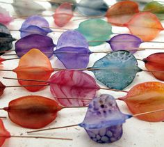 Translucent butterfly beads