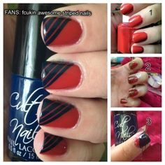 Found this when googling ways to use my new striping tape! Def gonna try!
