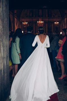 Vestidos novia en crepe