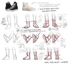 Feet Drawing, Drawing Base, Shoe Drawing, Body Drawing, Figure Drawing, Drawing Techniques, Drawing Tips, Converse Drawing, Poses References