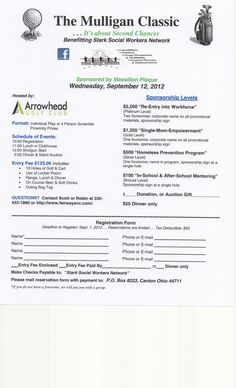 Free registration form template golf tournament registration im on a committee planning something called the mulligan classic its a golf more information more information registration form childs name maxwellsz