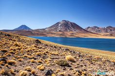 Miscanti y Miñiques by Roberto Sysa Moiola, via South America, Chile, Tower, Earth, Mountains, Landscape, Bolivia, Deep Blue, Lakes