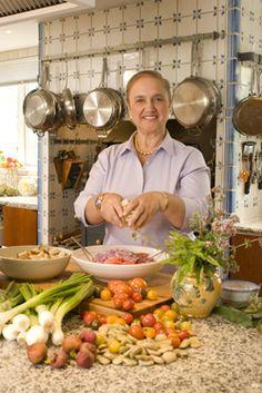 Lidia Bastianich's Capellini alla Primavera & Marinated Strawberry Sundae Recipes