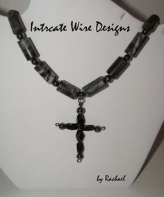 Jewelry Necklace Mens Cross Wire Wrapped by IntricateWireDesigns, $35.00
