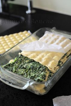 Dauphiné ravioli lasagna - Amuse bouche - Today, a simple salted recipe not very dietary but delicious then for once. Easy Healthy Recipes, Meat Recipes, Pasta Recipes, Vegetarian Recipes, Snack Recipes, Easy Meals, Lasagna Recipes, Recipe Pasta, Healthy Meals