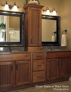 Bathroom Vanity Sinks bathroom vanities with tower storage | double vanity with center