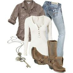 casual outfit with boots and jeans – Mode für Frauen Mode Outfits, Casual Outfits, Fashion Outfits, Womens Fashion, Casual Jeans, 20s Outfits, Ladies Fashion, Jeans Outfits, Fashion Ideas