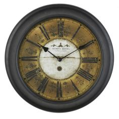I pinned this More's Hotel Wall Clock from the Bedlow Park event at Joss and Main!
