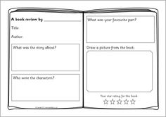 Book review template on Pinterest | Book Review, Reading Response and ...