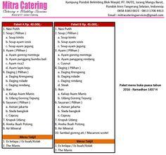 Menu catering wedding jakarta