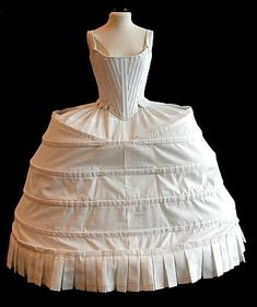 18th century corset and panniers                                                                                                                                                                                 Plus