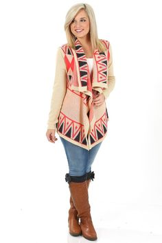 Keep Chasing Your Dreams Cardigan: Sand/Multi