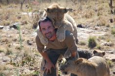 New Kids On The Block: The Lion Whisperer, Kevin Richardson, with baby lions