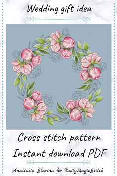 Designed by Anastasia Slavina for Modern Cross Stitch Patterns, Counted Cross Stitch Patterns, Cross Stitch Designs, Cross Stitch Embroidery, Simple Cross Stitch, Easy Cross, Wedding Cross Stitch, Wedding Embroidery, Craft Stick Crafts