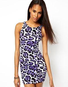 Motel Leopard Print Bodycon Dress