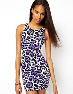 Motel Leopard Print Bodycon Dress