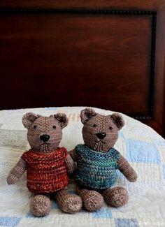 Magic Loop Teddy Bear Knitting Pattern | SimplyNotable.com