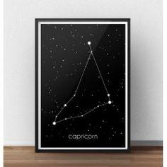 Plakat z gwiazdozbiorem Koziororzca  http://scandiposter.pl/plakaty/145-plakat-ze-znakiem-zodiaku-koziorozec.html