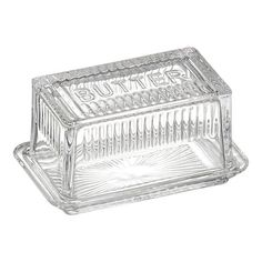Glass Butter Dish with Glass Lid