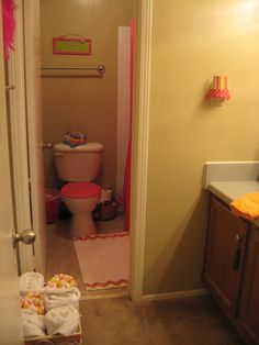 my new college apartment bathroom! :) to my future roommate.what