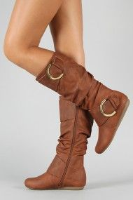 Buckle Slouchy Knee High Boot