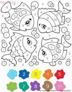 ausmalbild malen nach zahlen: winterzauber ausmalen kostenlos ausdrucken | vorschule | pinterest
