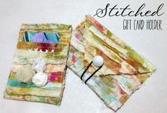 """Every Life Has a Story!"" - {Roben-Marie Smith} - Stitched Gift Card Holder Tutorial..."