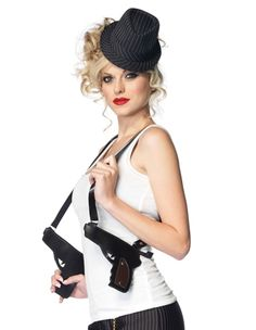 the gangster gun holster purse from leg avenue will take your gangster costume from good to