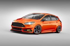 Many Focus ST and Fiesta ST on the Ford Booth at SEMA 2015 #sema #LasVegas #tuned #ford