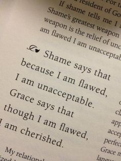 .Shame vs. grace