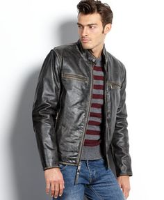 137d0b84c 11 Best Men's leather jackets images in 2013 | Leather men, Leather ...