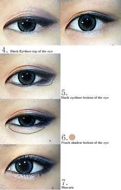 The Virtual Vixen: Korean Eye Makeup Looks - How to