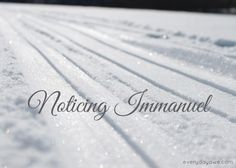 """Jesus came to make us as the snow. He covers the darkness of our sin with the brightness of His light.""   Noticing Immanuel Advent Series Day 2"