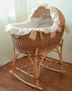 Wicker Welcome Lane Baby Girl Nursery Bedding, Baby Bedroom, Baby Room Decor, Baby Doll Bed, Baby Dolls, Baby Craddle, Baby Basinets, Cradles And Bassinets, Baby Swings