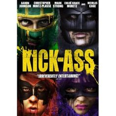 Encore -- Kick-ass [videorecording (DVD)] / Lionsgate and Marv present a Marv Films/Plan B production ; a film by Matthew Vaughn ; produced by Matthew Vaughn . screenplay Jane Goldman and Matthew Vaughn ; directed by Matthew Vaughn. Nicolas Cage, Chloe Grace Moretz, Hit Girls, Chris Evans, Matthew Vaughn, Video 4k, Lyndsy Fonseca, Robert Downey Jr., Mark Strong
