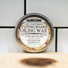 Natural Cutting Board Wax for your cutting board - made with organic ingredients and no mineral oil! Lime Essential Oil, Cutting Board, Wood Cutting, Organic Coconut Oil, Baking Ingredients, Natural Oils, Safe Food, Peppermint, Wax