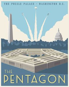 The Defense Department is expected to make a final request for proposals for a multibillion-dollar contract to move its data to the cloud. Vintage Art Prints, Vintage Artwork, Steve Thomas, Military Decorations, Star Wars Prints, Washington Dc Travel, Vintage Travel Posters, Poster Vintage, Pentagon