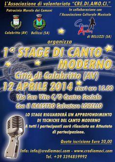 AccadeinCampania: 1° Stage di Canto Moderno a Calabritto 2014