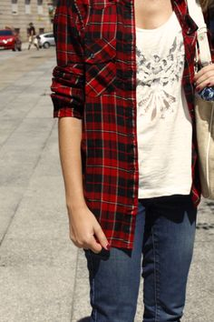 plaid shirt with jeans