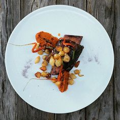 Slow cooked short rib BBQ, carrot jerky & caramelised onions - #CottonHouseHotel