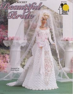 Beautiful Bridal Gown for Barbie Free Crochet Pattern