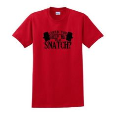 Could You Help Me With My Snatch? Short Sleeve T-Shirt Funny CrossFit Training Workout WOD WODKILLA Fran Burpee Snatch Jerk Weight Lift Muscle Box Gym T-Shirt Small Red XI,http://www.amazon.com/dp/B00CIB5YU0/ref=cm_sw_r_pi_dp_Vx6Mrb0X2TE54A15