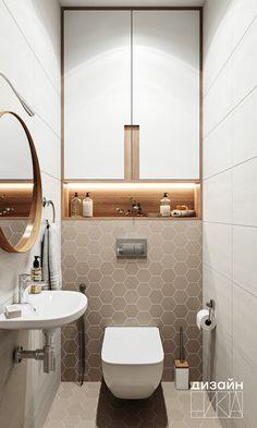 Small Bathroom Interior, Bathroom Design Luxury, Modern Bathroom Design, Small Toilet Design, Small Toilet Room, Home Room Design, Home Interior Design, Relaxing Bathroom, Powder Room Design