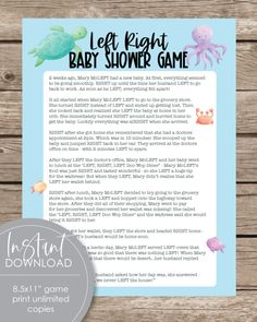 Printable Baby Shower Games Baby Shower Mad Libs, Baby Shower Candy, Baby Shower Bingo, Baby Shower Party Supplies, Baby Shower Activities, Baby Shower Printables, Baby Shower Parties, Shower Favors, Woodland Animals Theme